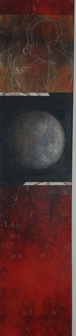 THE MOON BY DAY n. 2 Tecnica mista su legno cm.25x125